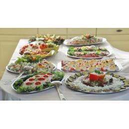 Traditioneel warm koud buffet